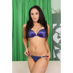 Blue Purple Bra and Panty Set